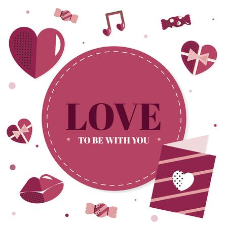 Valentinstag leerer Hintergrundvektor Vektorgrafik