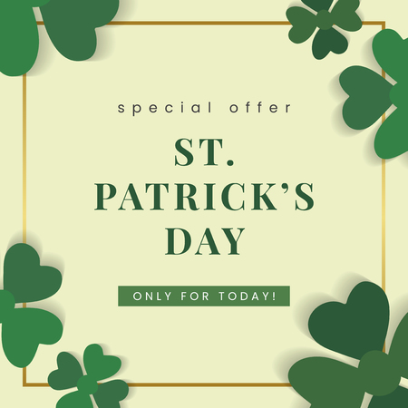St.Patrick's Day special offer vector  イラスト・ベクター素材