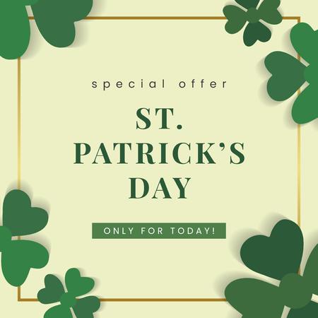 St.Patrick's Day speciale aanbieding vector Vector Illustratie