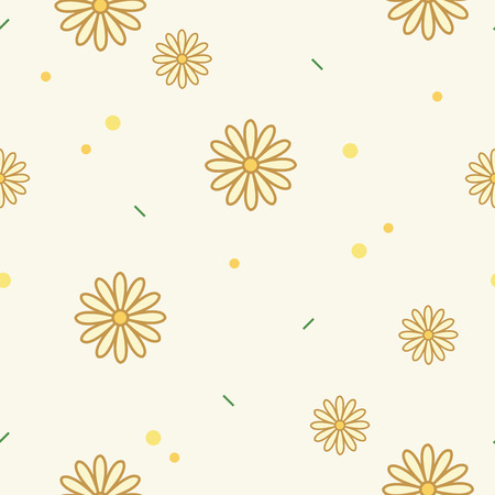 Flower pattern with a beige background vector