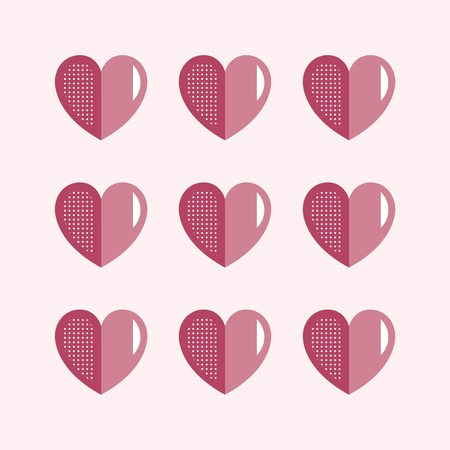 Valentine's Day pink hearts pattern vector