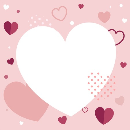 Valentine's Day blank background vector Stock Vector - 125881759