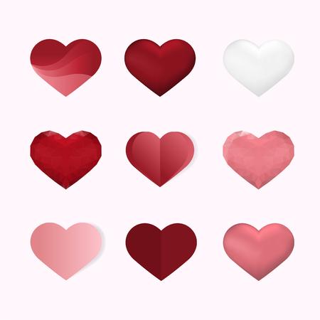 Valentine's day vector design concept Ilustração