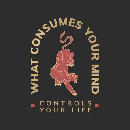 What consumes your mind logo vector