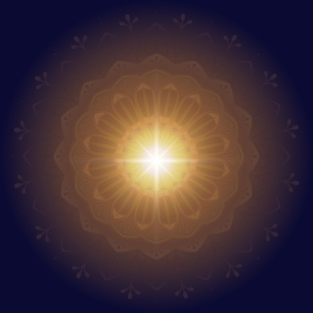 Eid mubarak lotus background vector