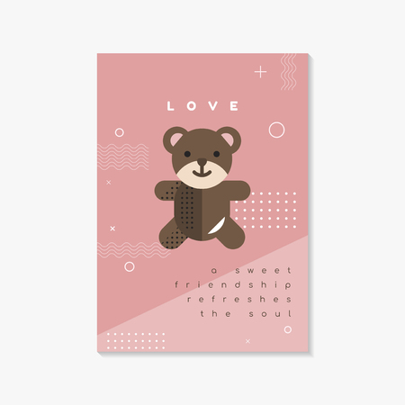Pastel Valentine's day poster and card mockup vector 写真素材 - 115860426