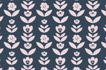 Pink floral patterned background vector Illustration