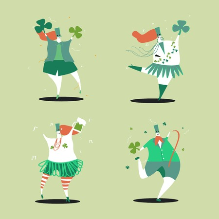 St. Patrick's Day characters vector