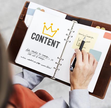 Content written on a journal