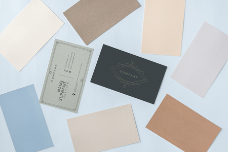 Business card and name card mockup 스톡 콘텐츠