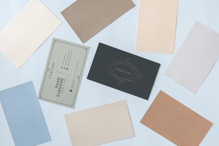Business card and name card mockup Banco de Imagens