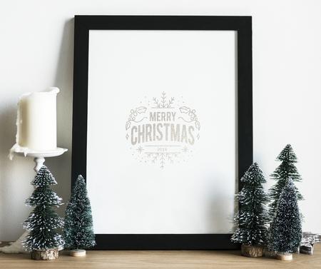 Christmas holiday greeting design mockup Stock Photo