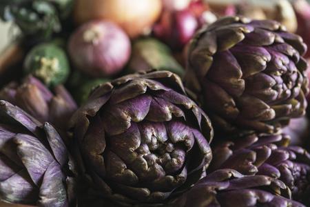 Close up of fresh artichokes 스톡 콘텐츠