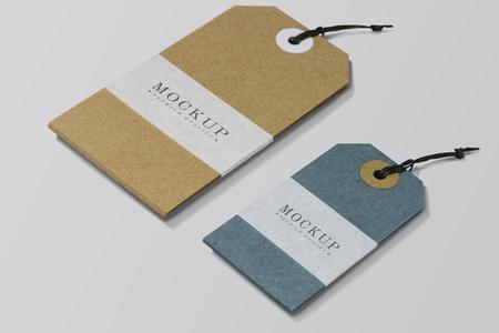 Premium quality clothing label mockup Stockfoto