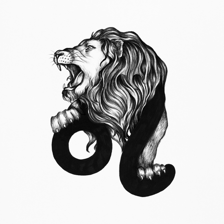 Hand drawn horoscope symbol of illustration