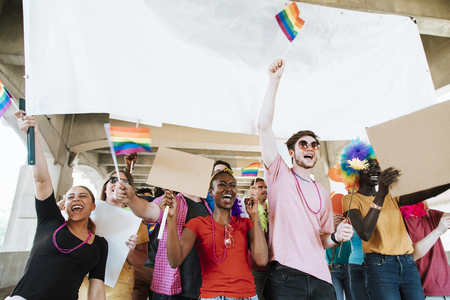 Cheerful gay pride and lgbt festival 写真素材 - 115868917