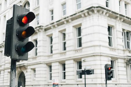Traffic lights in the city Archivio Fotografico - 115869023