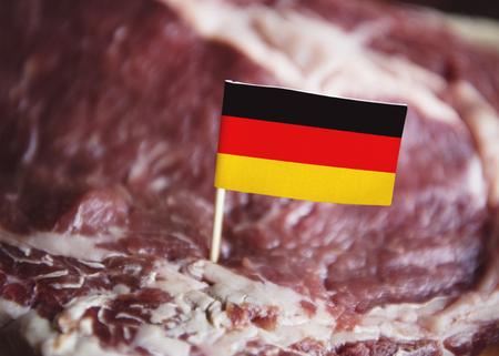 Fresh German beef steak food photography recipe idea