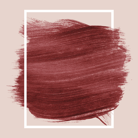 Red shimmery brush stroke badge