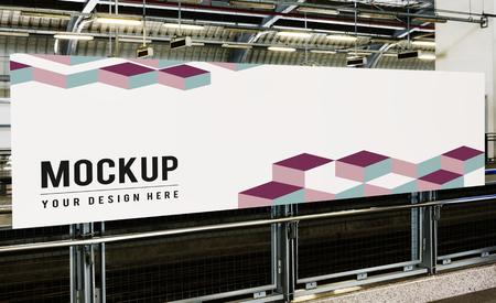 Large billboard mockup for advertisements Stock Photo