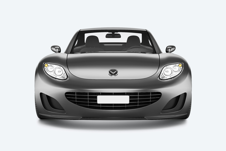 Front view of a silver sports car in 3D Stock fotó