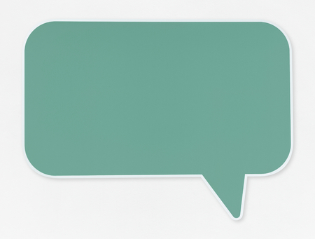 Green speech bubble icon isolated Standard-Bild