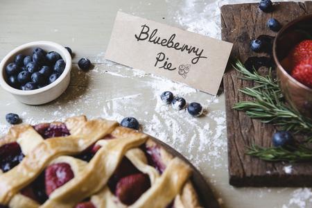 Homemade mixed berries pie food photography recipe idea