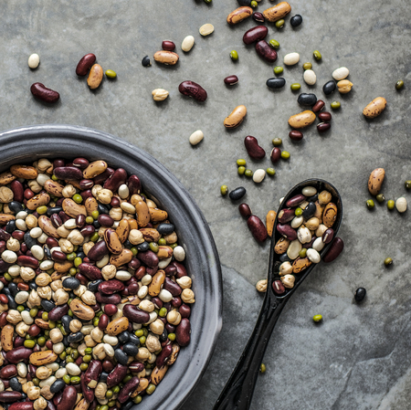 Fresh legumes in a bowl