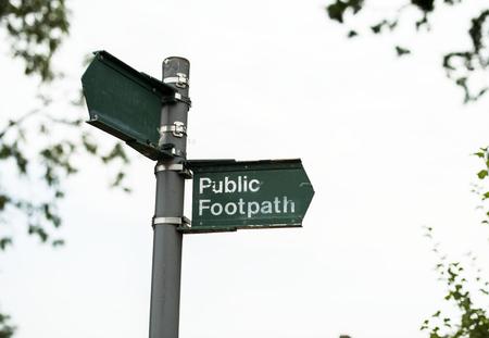Public footpath sign Stock fotó