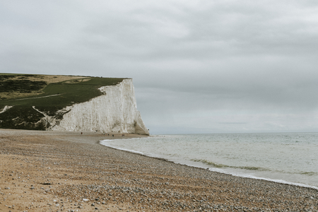 Seven sisters cliff in Sussex Stock Photo