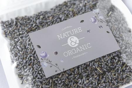 Organic tea branding and packaging mockup