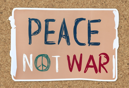Peace not war word banner Stock fotó