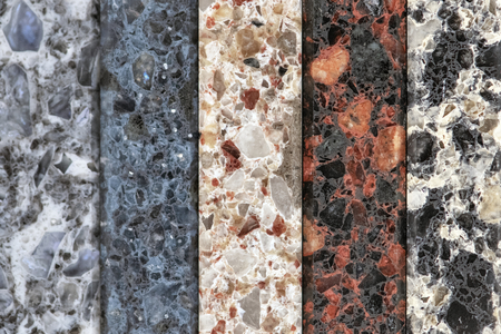 Colorful vertical slabs of marble Stok Fotoğraf