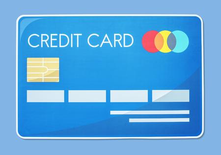 Credit card vector illustration icon Stock Photo