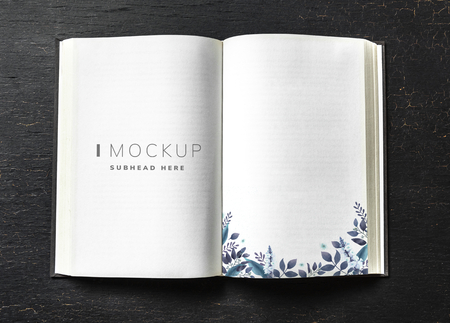 Floral guest book mockup on a table Stock fotó