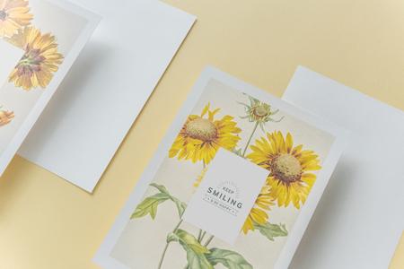 Keep smiling greeting card mockup