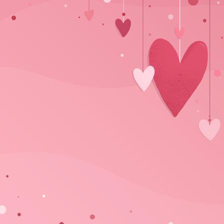 Diseño de vector de tarjeta de día de San Valentín con espacio de copia