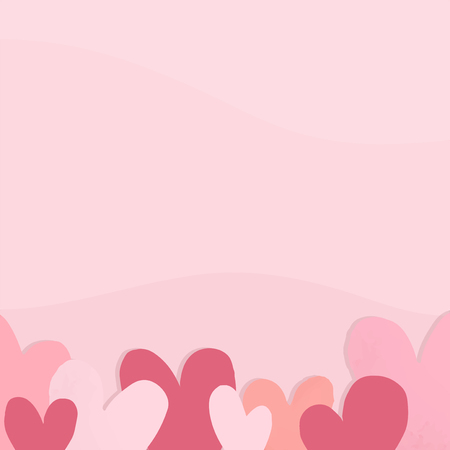 Valentines day card vector design with copy space
