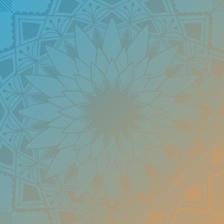 Colorful mandala pattern background vector Vettoriali