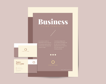 Corporate flyer and name card template vectors Иллюстрация