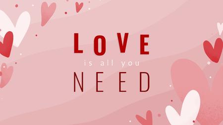 Miłość to wszystko, czego potrzebujesz do projektowania tekstu Ilustracje wektorowe