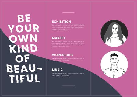 Monotone corporate brochure template mockup vector Illustration