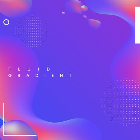 Colorful fluid gradient background vector Ilustração Vetorial