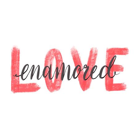 Love enamored Valentines card design