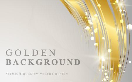 Vector de fondo abstracto de onda dorada