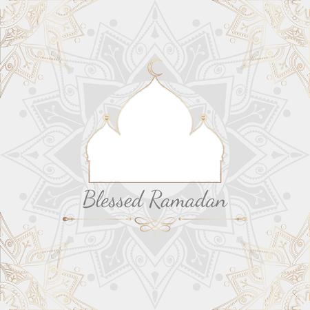 Blessed Ramadan card design vector