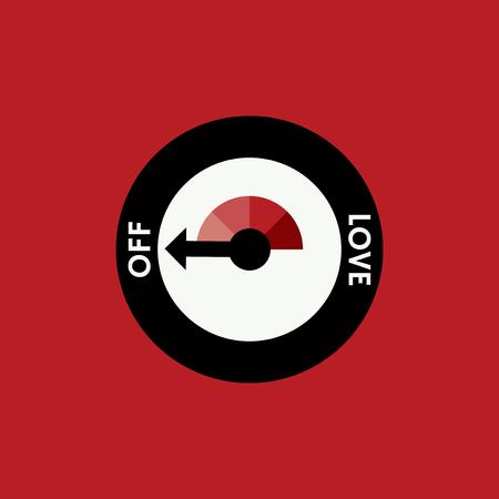 Love switch off mode vector Фото со стока - 116525531