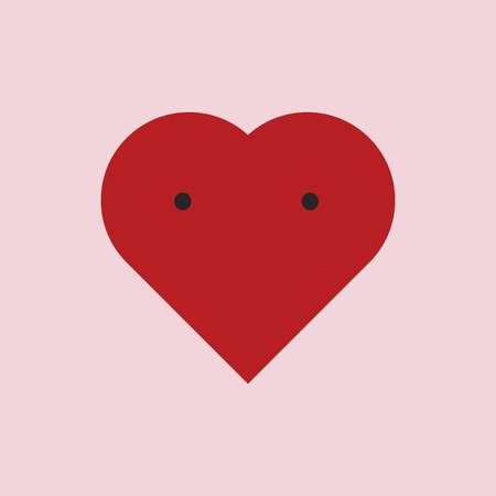 Valentine's day heart design vector