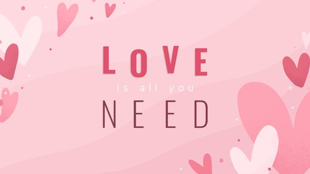 Love is all you need text design