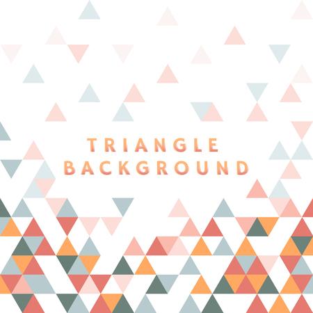 Colorful triangle patterned on white background Ilustração